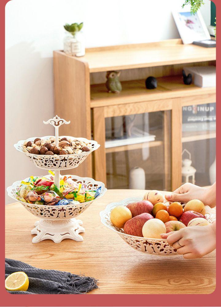 【蔓洁丽】现代家用欧式多层水果盘 -5