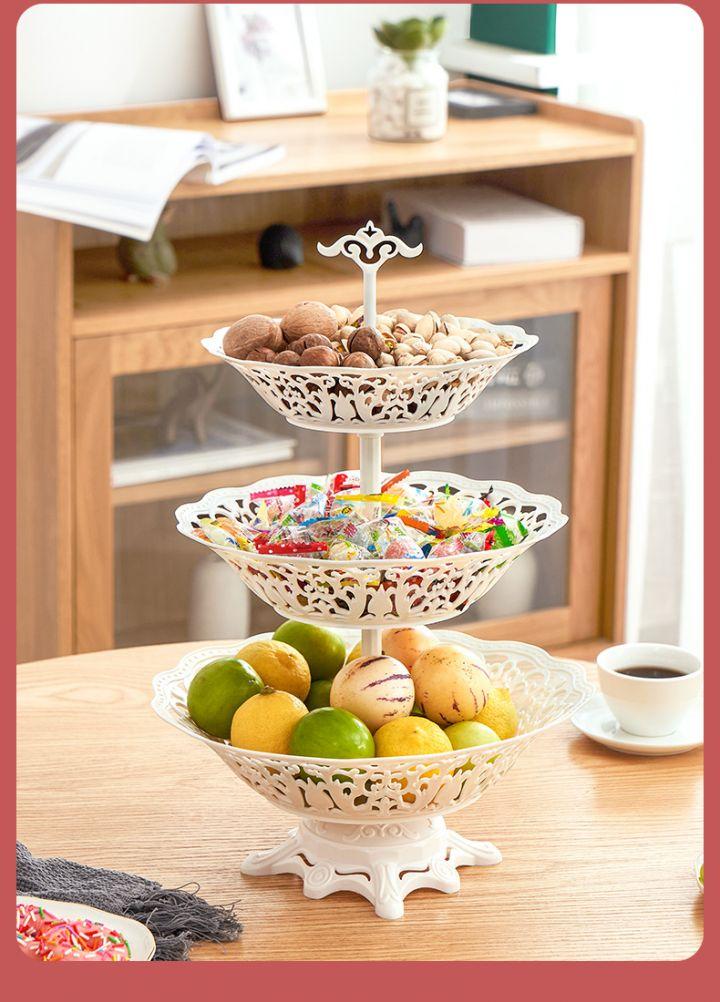 【蔓洁丽】现代家用欧式多层水果盘 -8