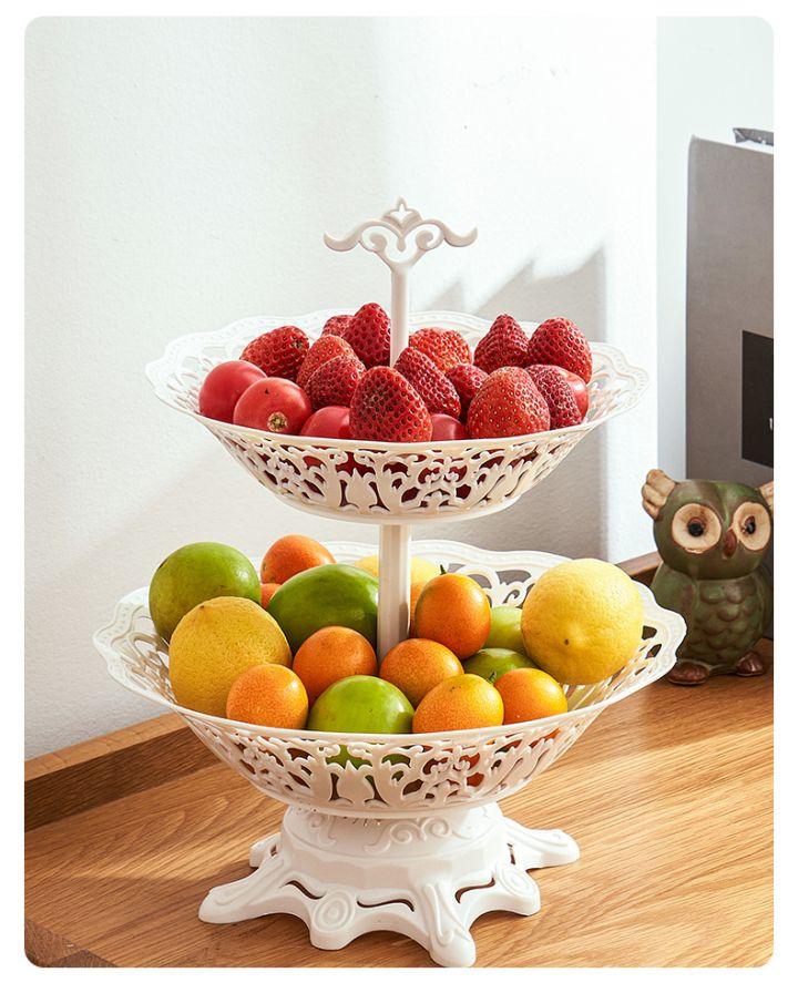 【蔓洁丽】现代家用欧式多层水果盘 -22